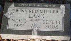Winifred Bertha <I>Muller</I> Lang