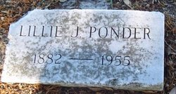 Lillie J Ponder