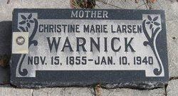 Christine Marie <I>Larsen</I> Warnick