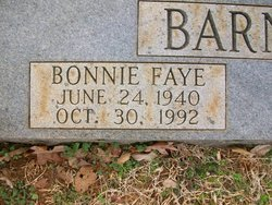 Bonnie Faye <I>Adams</I> Barnes