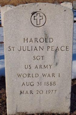 Harold St Julian Peace
