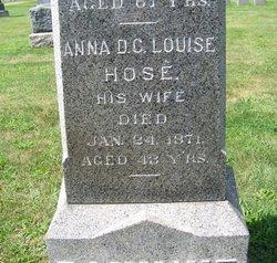 Anna D.C. Louise <I>Hose</I> Bannihr