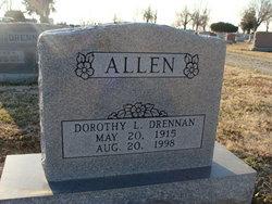 Dorothy L <I>Drennan</I> Allen