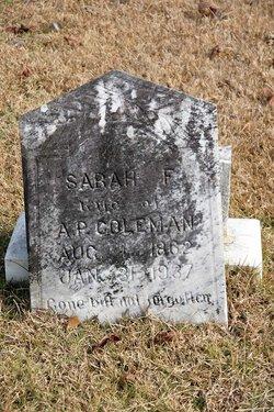 Sarah Fannie Coleman