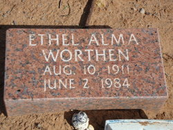 Ethel Alma Worthen