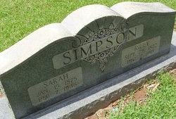 Sarah <I>Williams</I> Simpson