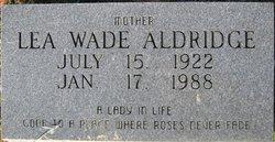 Lea <I>Wade</I> Aldridge