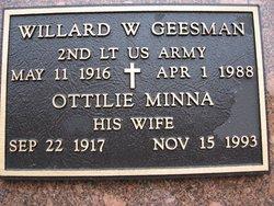 Ottilie Minna <I>Stredicke</I> Geesman