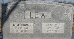 Mary <I>Leslie</I> Lea