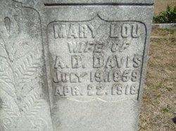 Mary Lou <I>Dupree</I> Davis