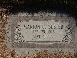 Marion C Buster