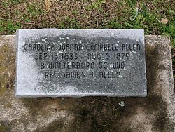 "Carolina Joanna ""Carrie"" <I>Campbell</I> Allen"