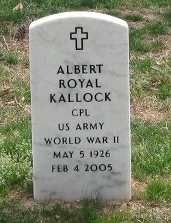 Cpl Albert Royal Kallock