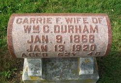 Carrie F Durham