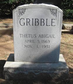Thetus Abigail <I>Hargett</I> Gribble