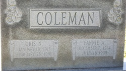Fannie <I>Asberry</I> Coleman
