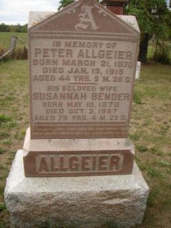 Susannah <I>Bender</I> Allgeier