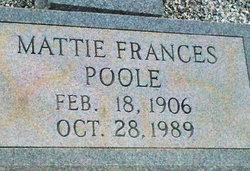 Mattie Frances Poole