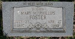 Mary M <I>Phillips</I> Foster