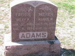 Marion W. <I>Pope</I> Adams
