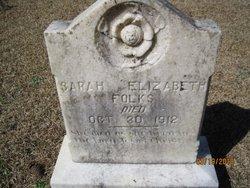 Sarah Elizabeth Folks