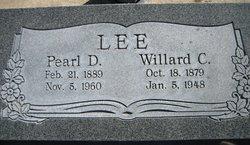 Pearl Elizabeth <I>Davis</I> Lee