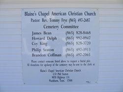 Blaines Chapel Cemetery