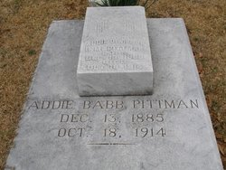 Addie O <I>Babb</I> Pittman