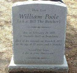 """William """"Bill The Butcher"""" Poole"""