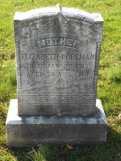 Elizabeth <I>Styer</I> Foreman