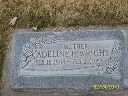 Adeline Catherine <I>Hunter</I> Wright