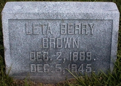 Mary Leta <I>Berry</I> Brown