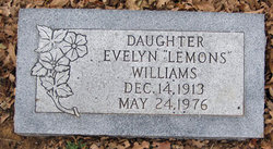 Evelyn <I>Lemons</I> Williams