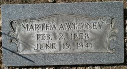 Martha Ann <I>Fries</I> Whitney