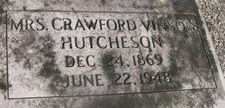 Lucy Crawford <I>Vinson</I>  Hutcheson