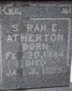 Sarah Elizabeth <I>Boley</I> Atherton