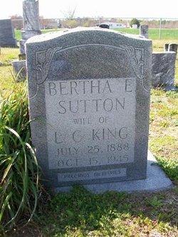 Bertha Elizabeth <I>Sutton</I> King