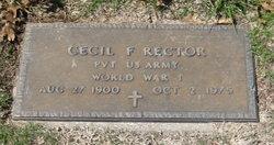 Cecil F Rector