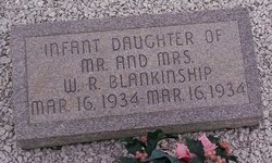Infant Daughter Blankinship