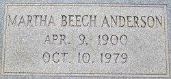 Martha <I>Beech</I> Anderson