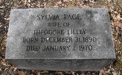 Sylvia <I>Page</I> Lilley