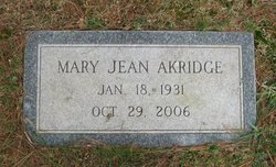 Mary Jean Akridge