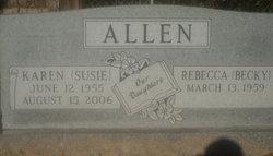 Karen (Susie) Allen