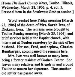 Sarah Louise <I>Carothers</I> Ives