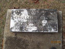 Sgt Cyrus Calvin Carter
