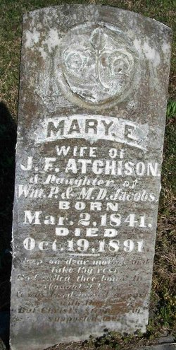Mary Elizabeth <I>Jacobs</I> Atchison