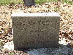 Rebecca <I>Powell</I> Shelton