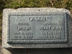 Mary Ann <I>Smith</I> Olsen