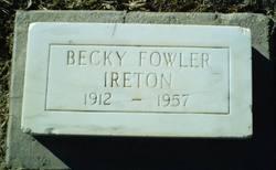 Becky <I>Fowler</I> Ireton