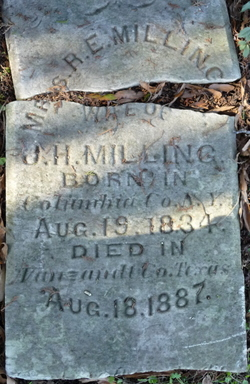 Mrs Rhoda Elizabeth <I>Reynolds</I> Milling